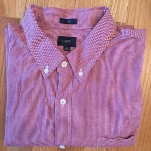 J. Crew factory slim fit small gingham check shirt